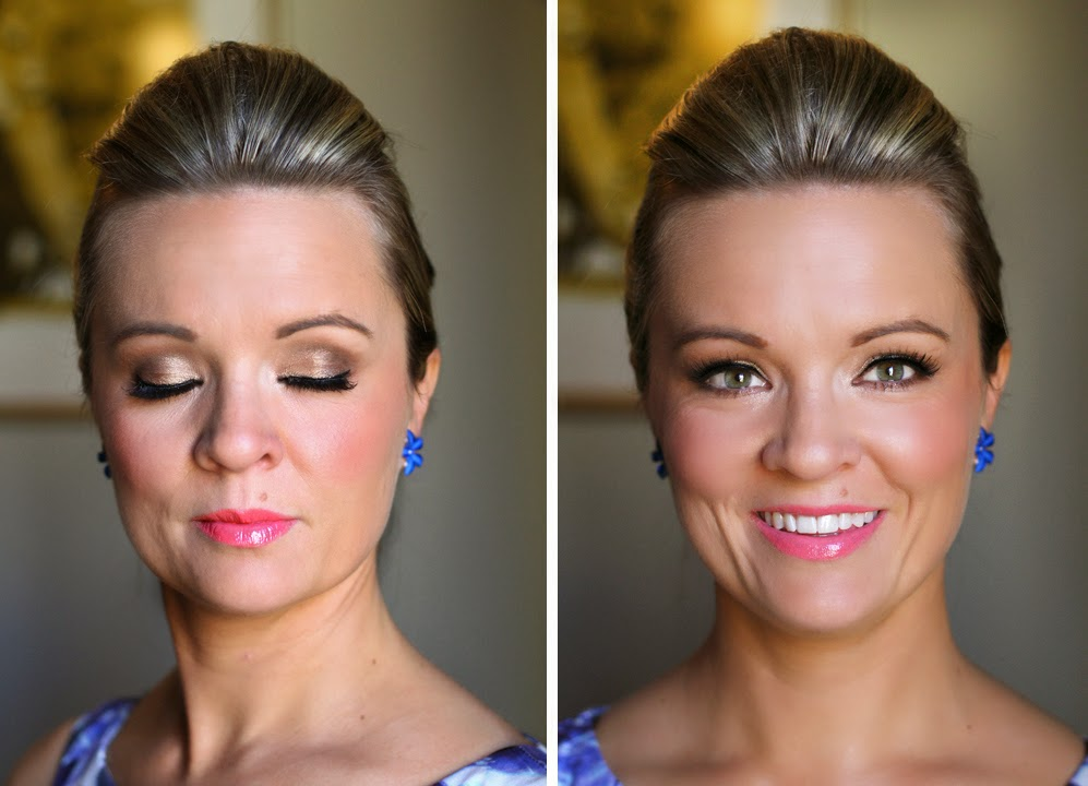 Pink Lipstick, natural bridesmaid or bride makeup. Makeup by Katie Dawson from Perle Jewellery & Makeup