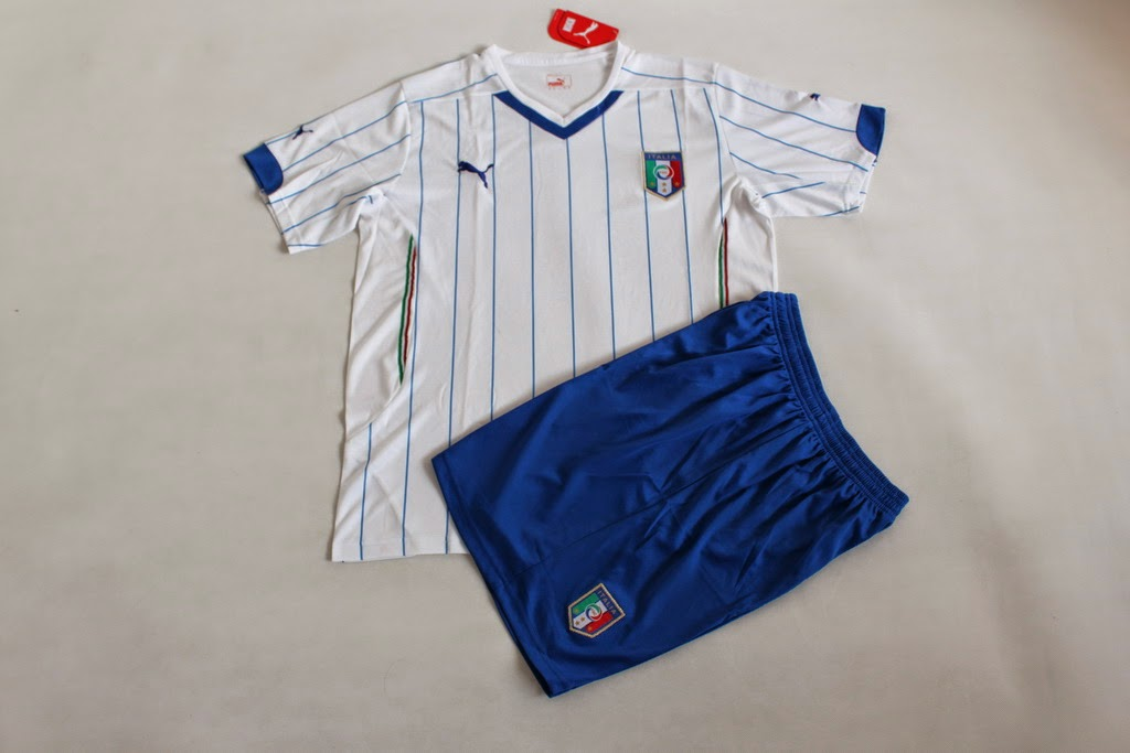 SETELAN BAJU BOLA ANAK ITALY AWAY WORLD CUP 2014
