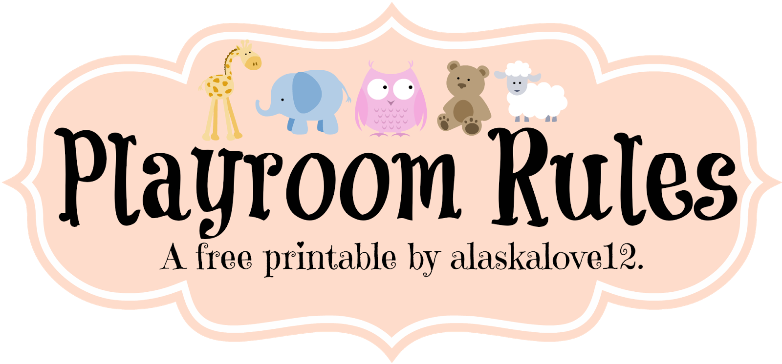 alaskalove12 playroom a free printable