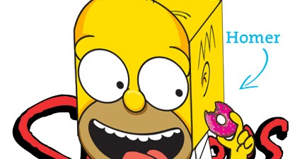 The great world of papercraft homero simpson - Homer simpson tout nu ...
