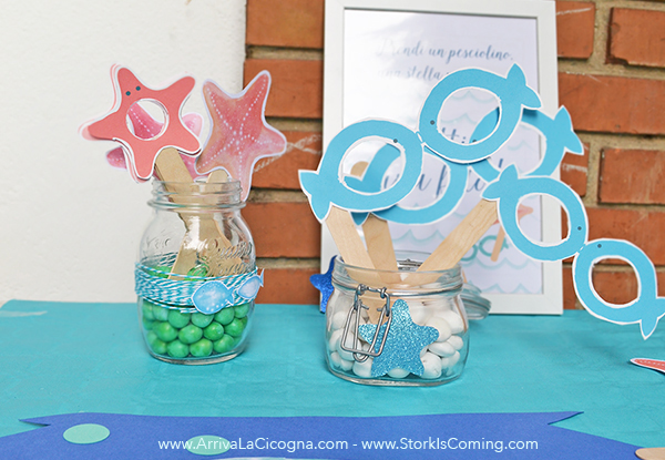 sea themed props for party photobooth