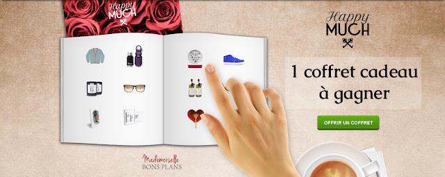 Jeu HappyMUCH et Mademoiselle Bons Plans: 1 coffret cadeau sur mesure  HappyMUCH à gagner