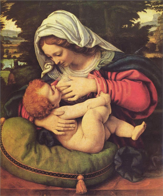 The Virgin of the Green Cushion, 1510,Andrea Solario