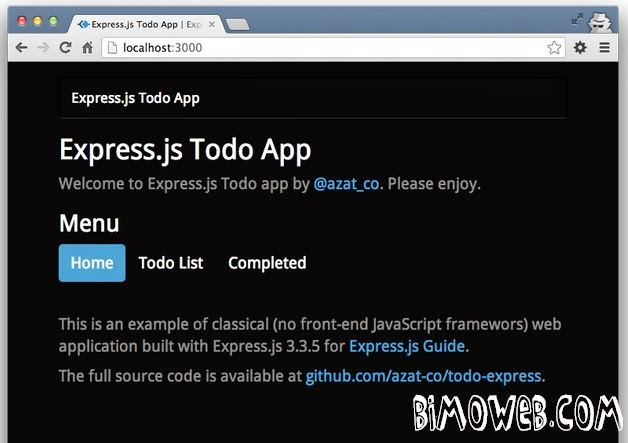 ToDo App with Node.js