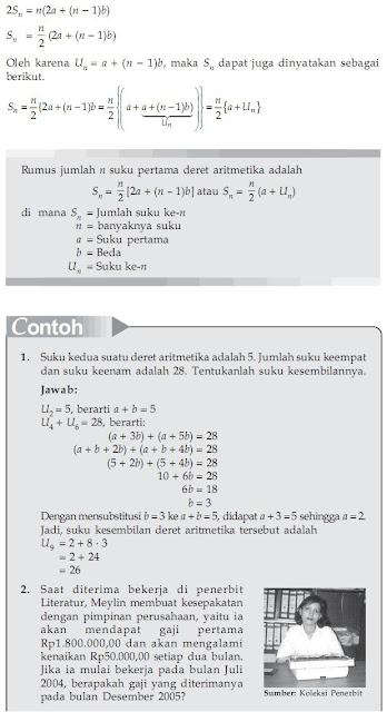 ... model matematika dari masalah deret solusi dari masalah deret