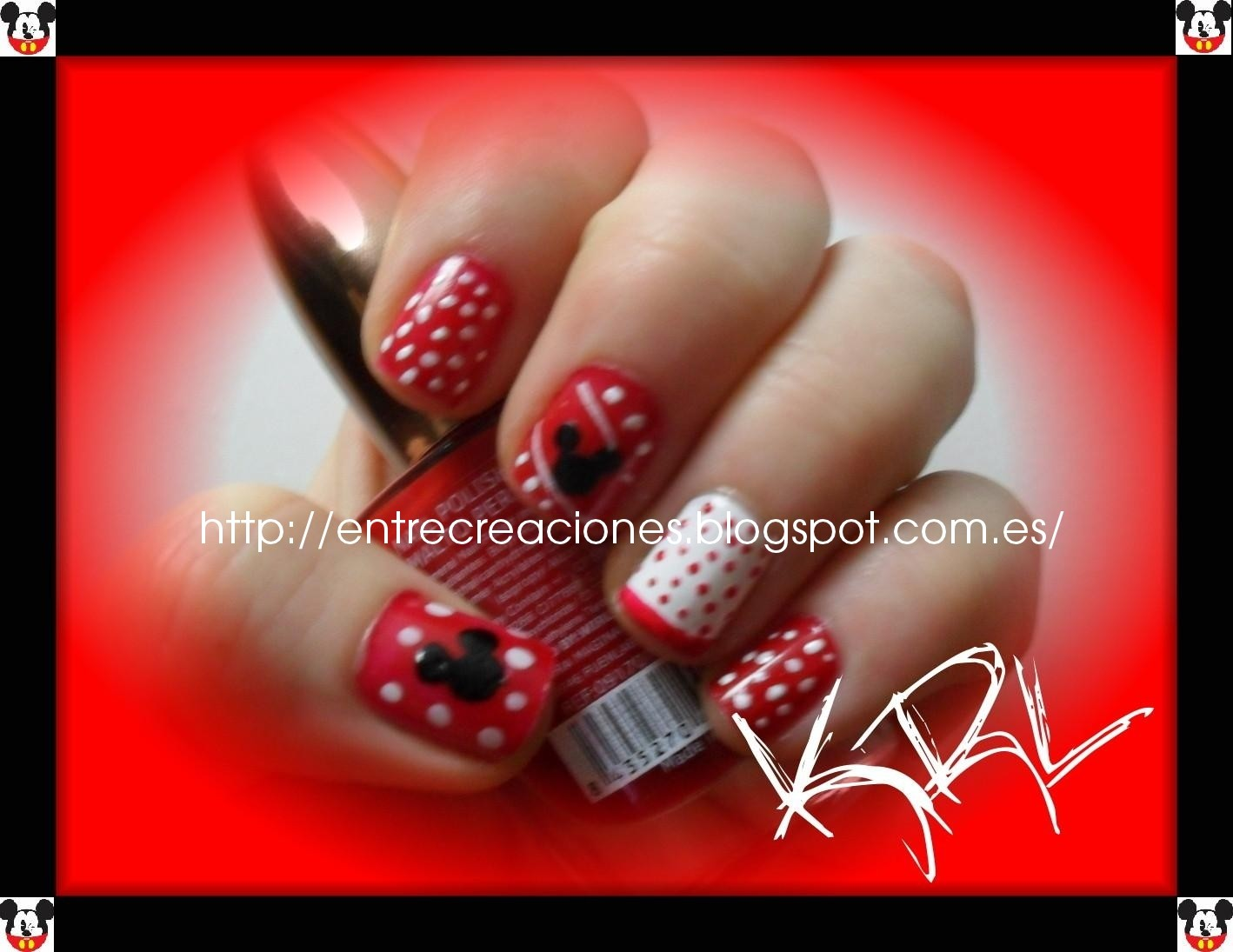 Entre Creaciones: Mickey Mouse Nails