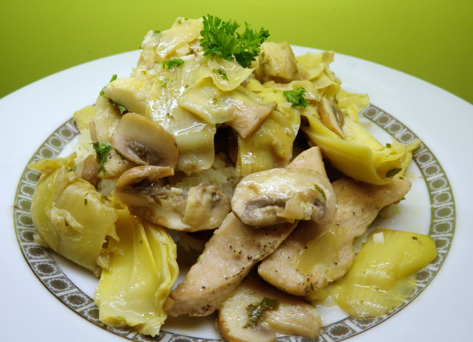 ... Detroit: {Healthy} Chicken Piccata with Artichokes and Mushrooms