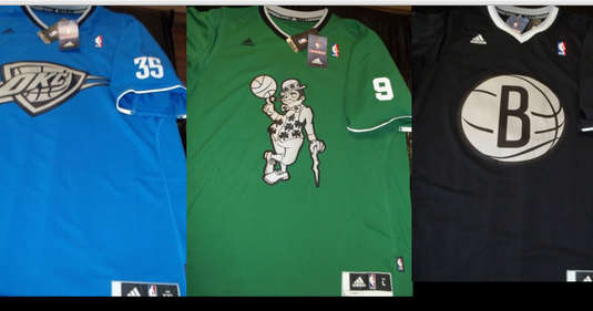 The NBA is going with some really weird uniforms for Christmas Day ...