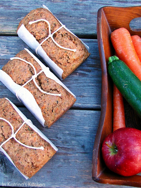 Fruit and Veggie Bread @katrinaskitchen