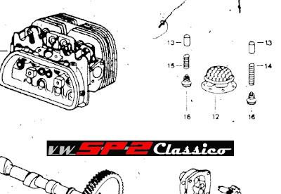 Válvula compensadora de pressão do óleo do Volks SP2_c
