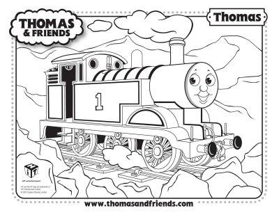 Thomas El Tren Para Recortar Pegar Y Colorear