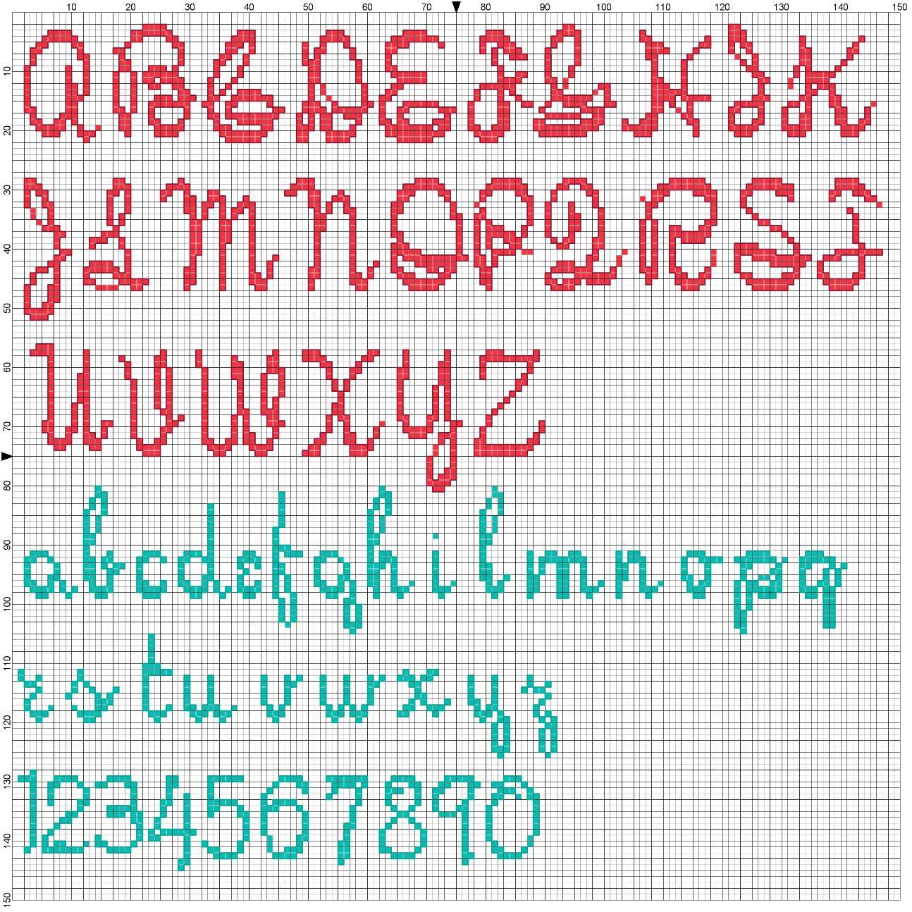 Alfabeto bruco schemi punto croce di alfabeti e iniziali for Punto croce schemi alfabeto