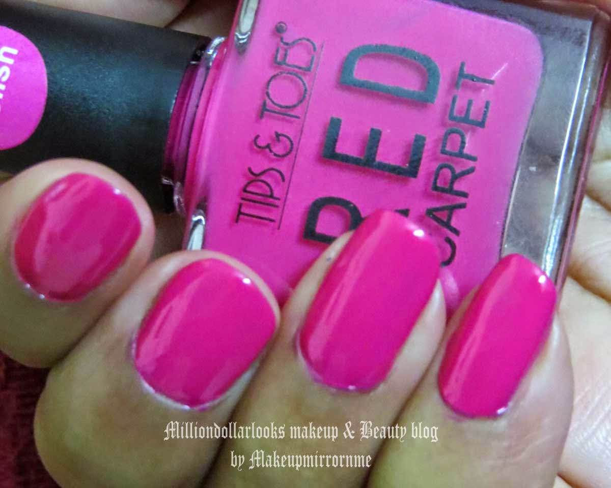 On My Nails Today: Tips & Toes Red Carpet Gel Nail Polish shade 18 Mauvish Plump, Tips & Toes Red Carpet Gel Nail Polish shade 18 Mauvish Plump review, pictures and NOTD, Gel nail polish, Pink color nail polish, Pink color gel nail polish, Tips and toes gel nail polish shades and swatches, Top indian beauty blogs, Indian makeup and beauty blog, Nail polish trends, Pink nails, Milliondollarlooks makeup and beauty blog