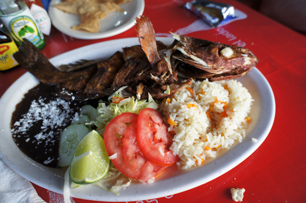Hollow legs eating in tulum mexico for Deep fried whole fish