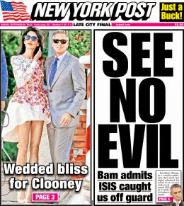 Tough Choices in News Biz...ISIS Threat vs Clooney Wedding