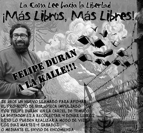 LA CANA LEE HACIA LA LIBERTAD, MAS LIBROS, MAS LIBRES, FELIPE DURAN A LA KALLE !!!!!