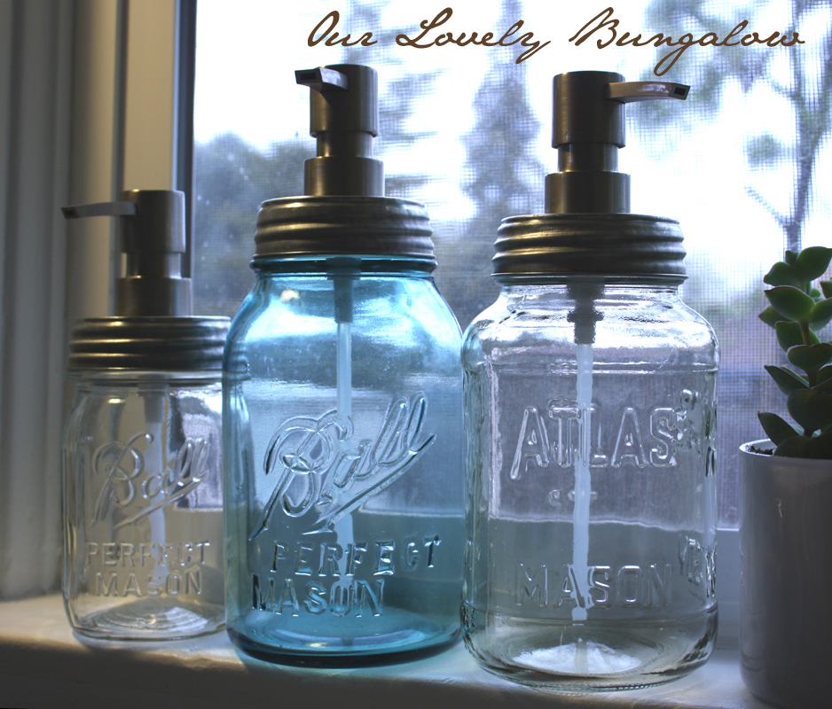 New And Improved Mason Jar Soap Dispensers