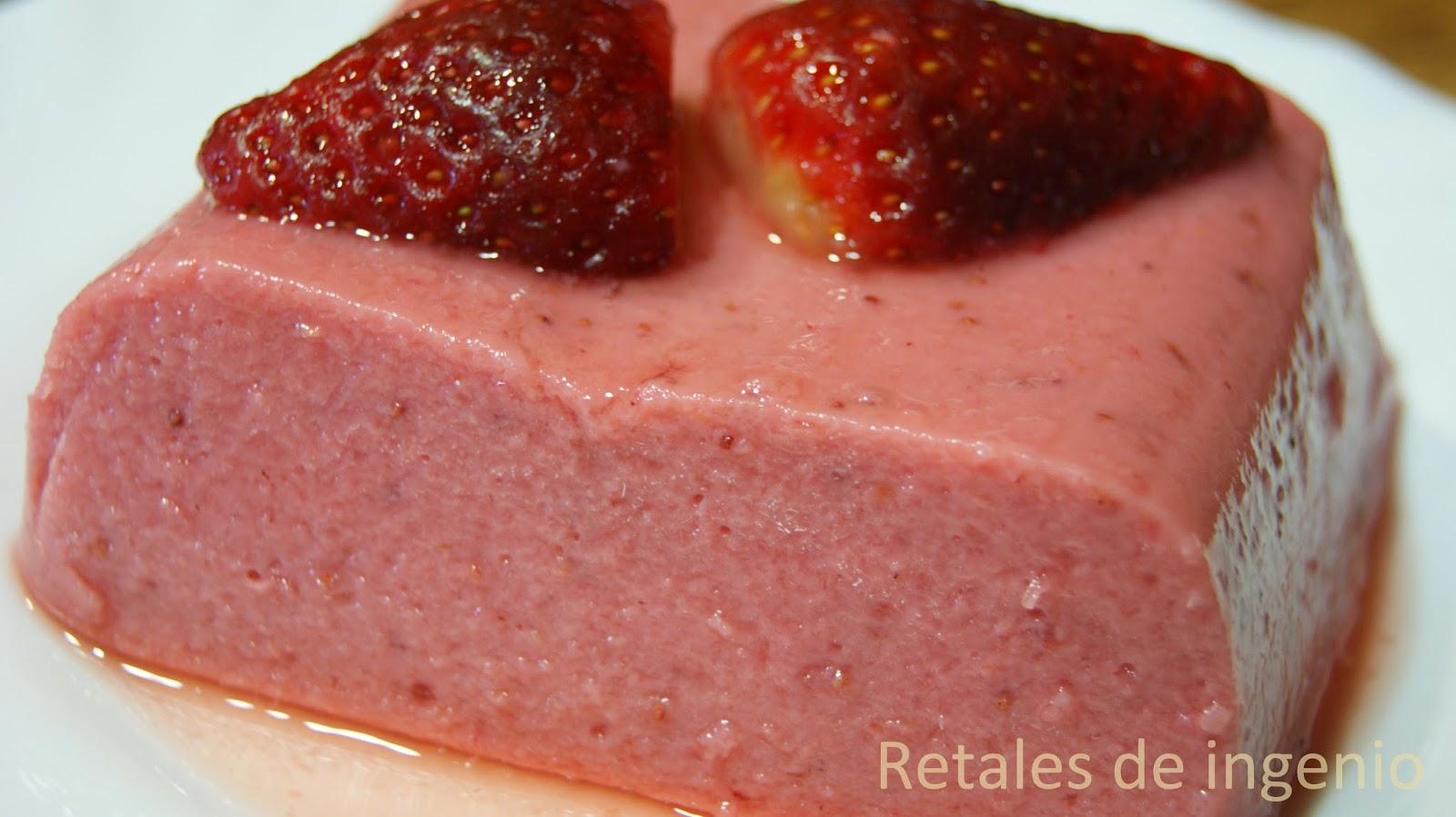 Gelatina ligera de fresas