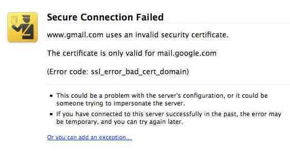 Mengatasi Gmail Certificate error