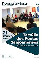 TERTÚLIA DOS POETAS SANJOANENSES, COM PERFORMANCE MUSICAL DE PATRÍCIA PEREIRA