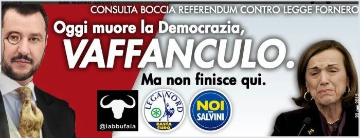 Salvini, Fornero, Consulta, vignetta, satira