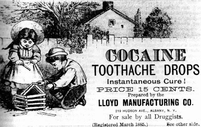 cocaína, dolor de dientes, niños