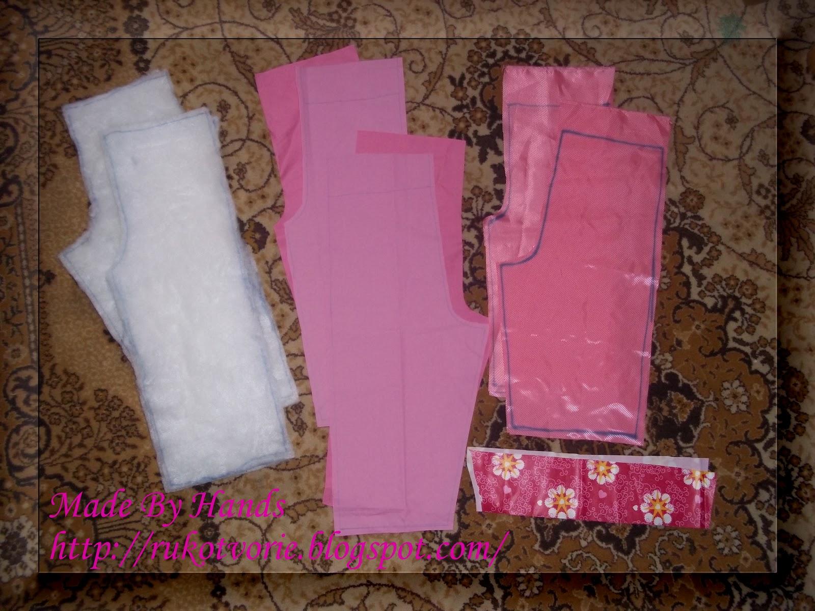 Как сшить детские штаны на резинке из плащевки 54