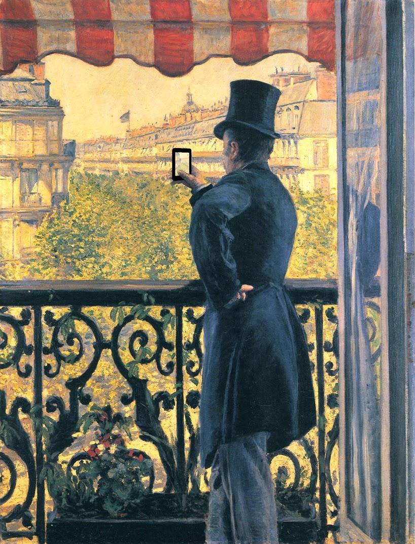 Гюстав Кайботт Человек на балконе, бульвар Осман (1880)