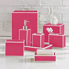Pink & White Bathroom must haves