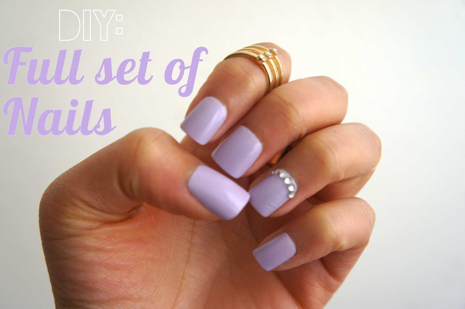 Diy Full Set Of Nails No Acrylic Drills