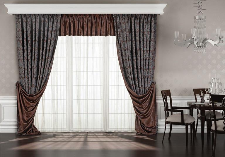 kahverengi gri fon perde modeli elif perde. Black Bedroom Furniture Sets. Home Design Ideas