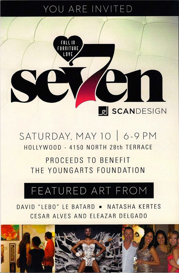 Miami Art Scene 7th Annual Art Event Fundraiser at Scan Design
