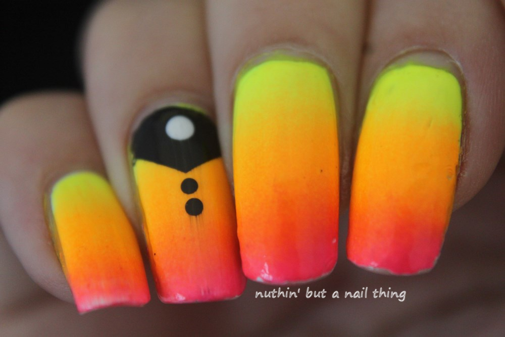 nuthin\' but a nail thing: Neon gradient nail art