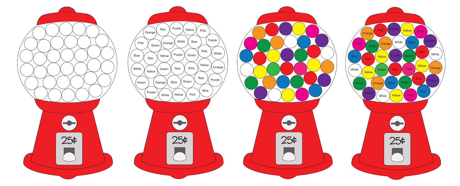 Impertinent image intended for printable gumball machine