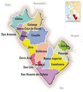 Mapa de Cañete