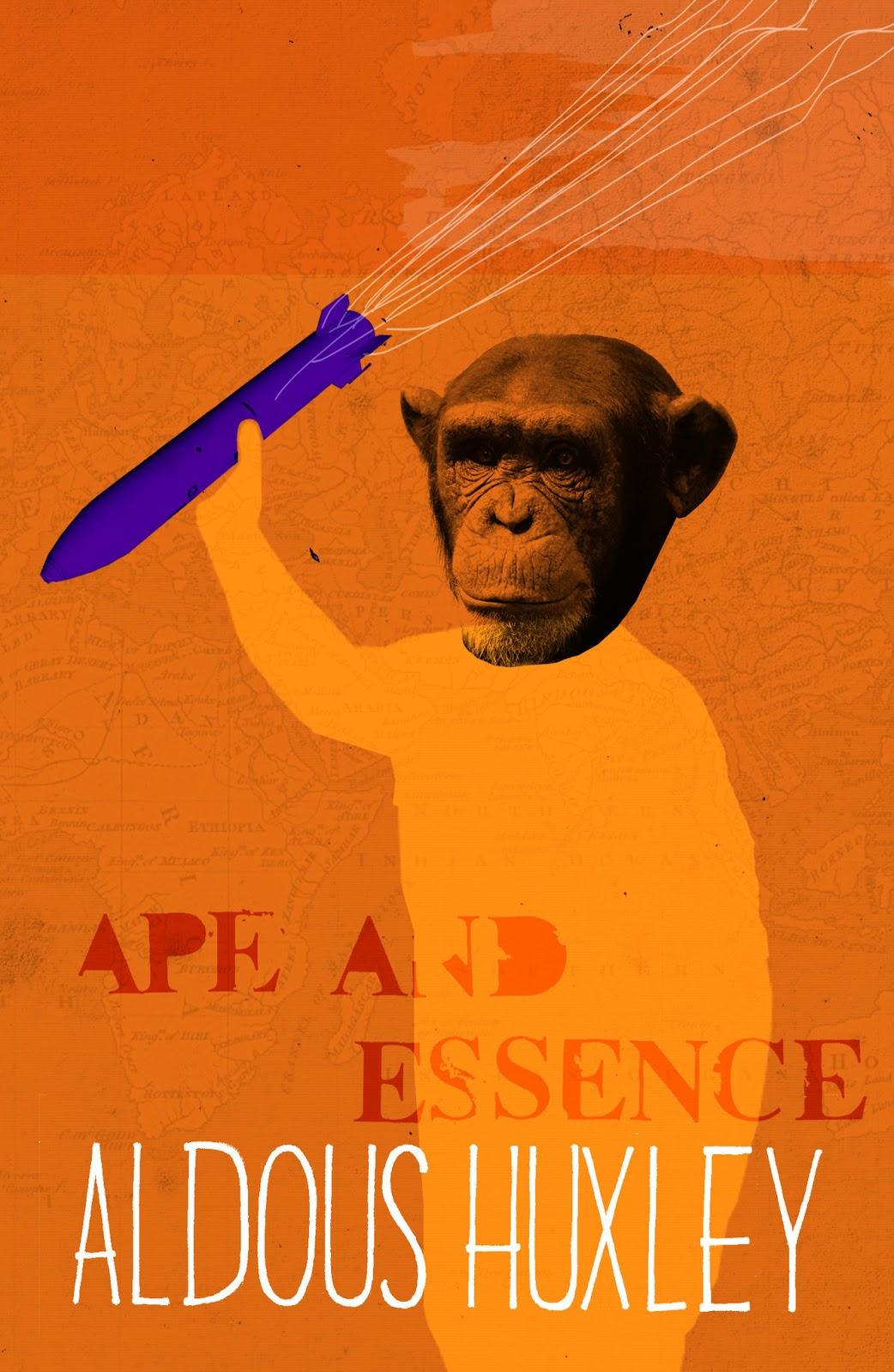 Briony Firth Illustration Aldous Huxley Ape And Essence border=