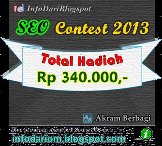 Kontes SEO 2013 dari InfoDariBlogspot dan Akramberbagi