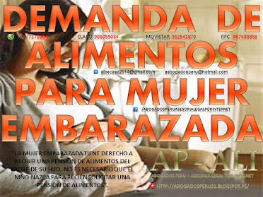 DEMANDA DE ALIMENTOS PARA MUJER EMBARAZADA, PENSIÓN DE ALIMENTOS PARA MUJER EMBARAZADA