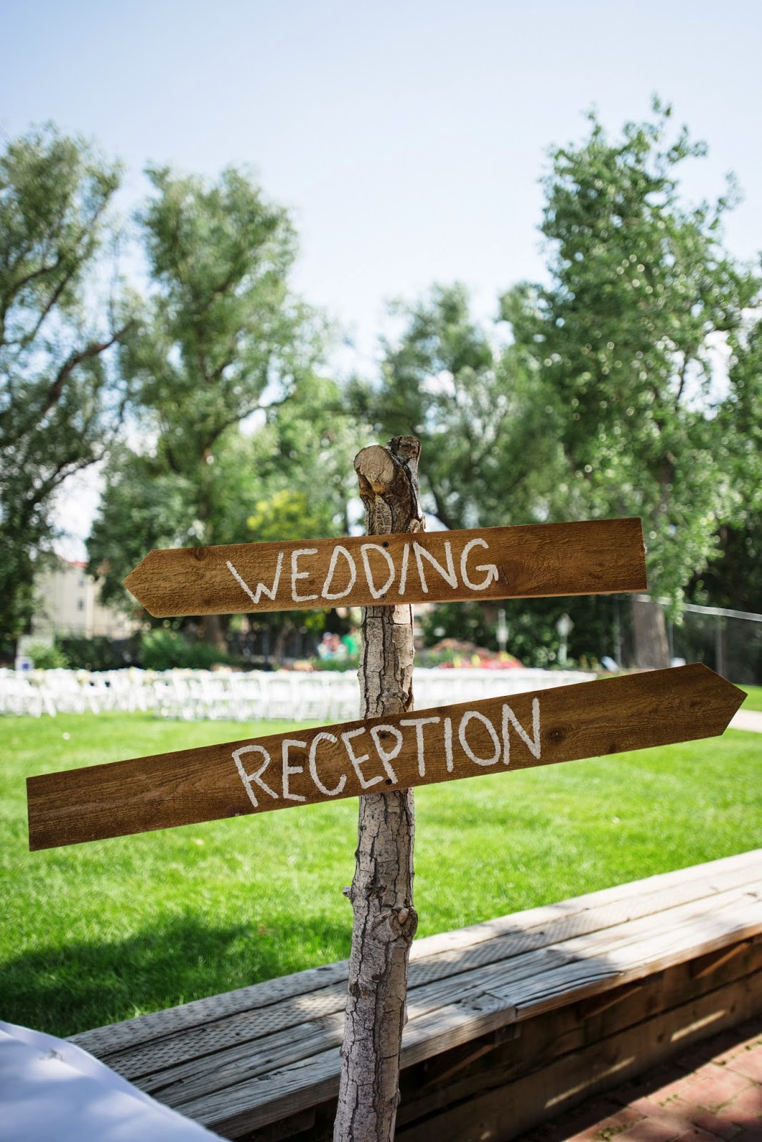 We can create simple directional signage out of wood