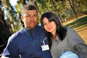 Visita a Arcelor Mittal - 07/14 - Douglas S. Nogueira e Sâmela Nogueira