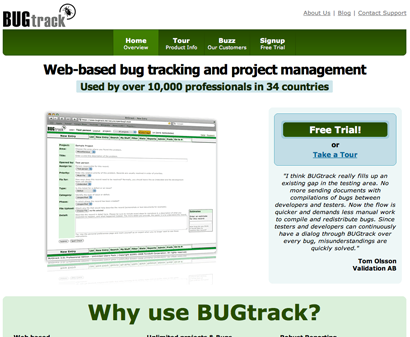 BUGtrack Review