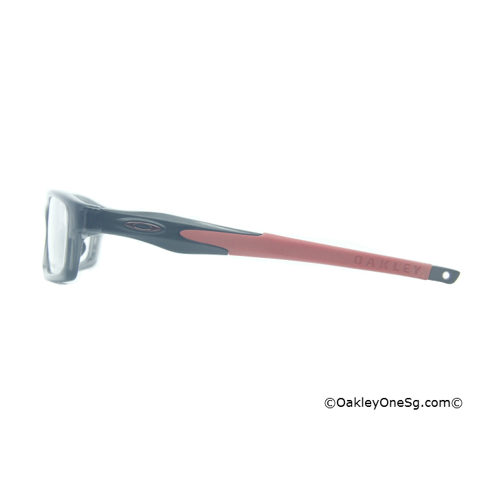 Oakley Crosslink Temple - Satin Black Red Ear Sock