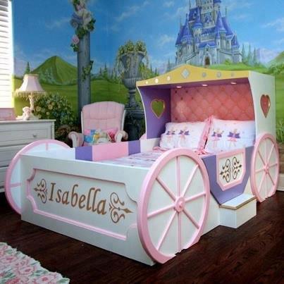 camas en forma de carruaje para niñas