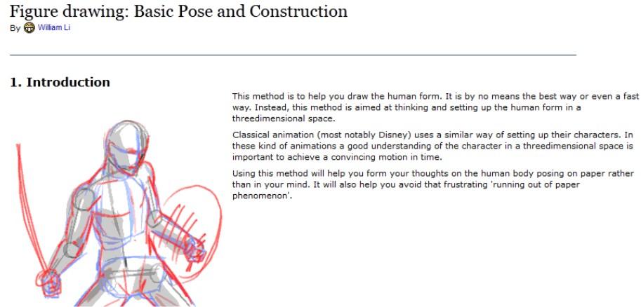 revista comics figure drawing basic pose and construction