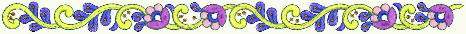 nüchterne floral Figur Stickerei-Designer Spitzen Grenze für Top und Tuniken