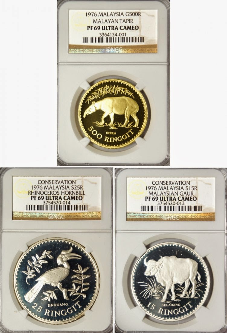 2015 S Presidential Dollar Proof Set NGC PF69 Ultra Cameo