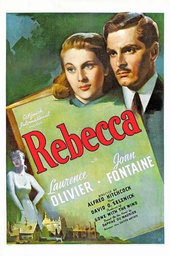 HVB vintage wedding blog - Remembering Joan Fontaine, REBECCA poster