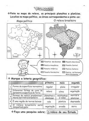 ATIVIDADES CI  NCIAS E GEOGRAFIA 3   4   5   ANOS IV