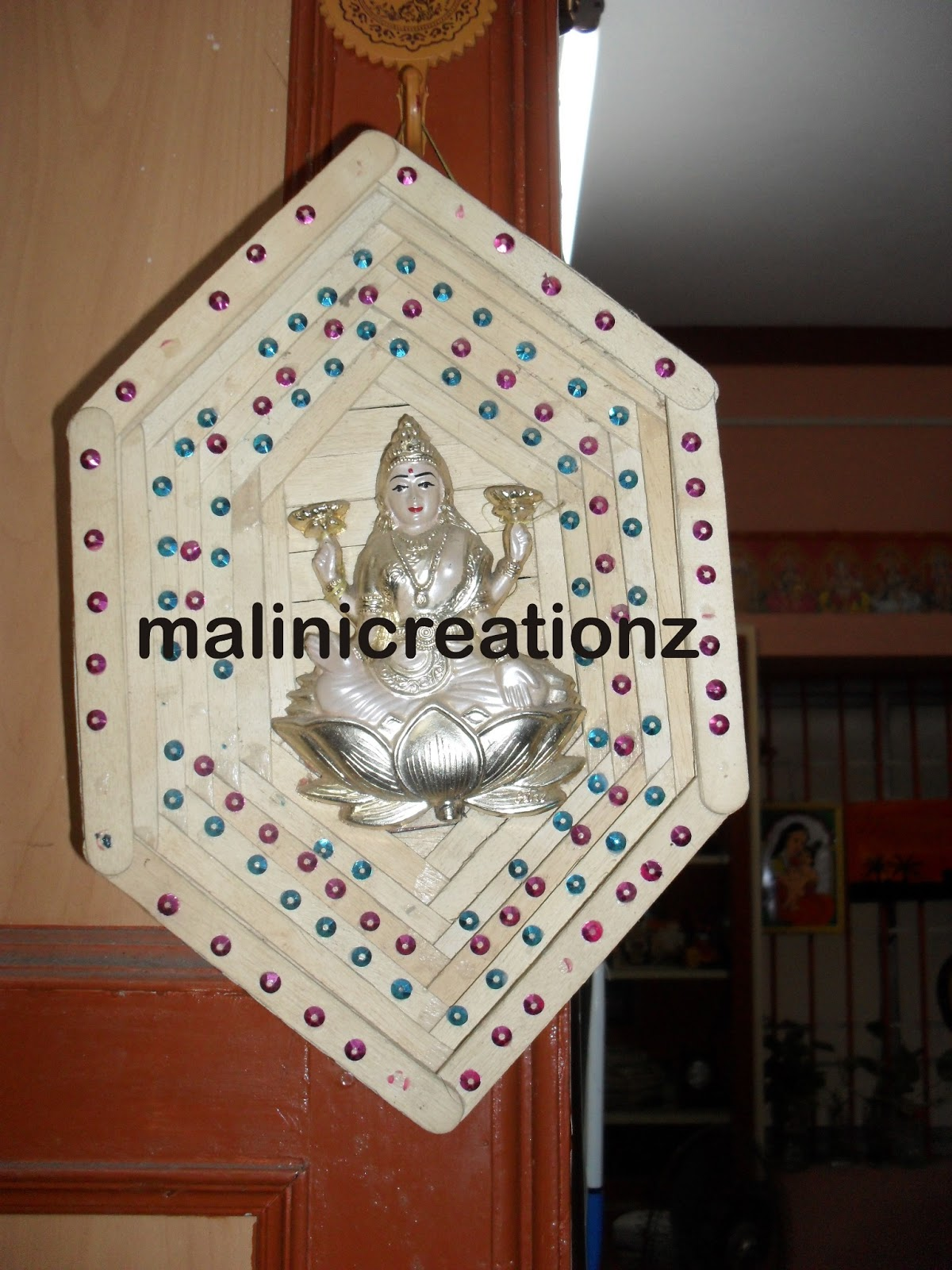 Malini S Creationz Popscile Ice Cream Stick Crafts