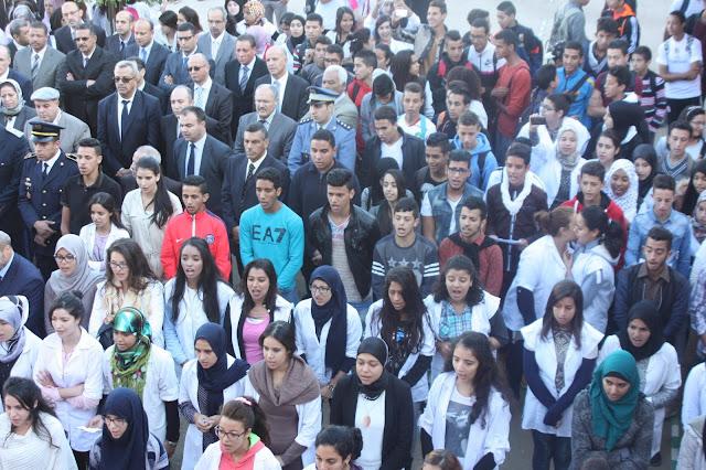 أسرة التربية والتكوين بفاس تخلد بثانوية الأدارسة الذكرى 40 لانطلاق المسيرة الخضراء المظفرة 